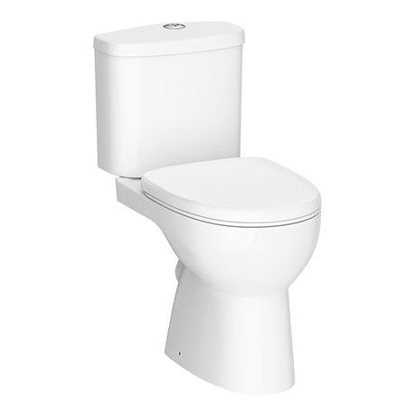 Cove Rimless Close Coupled Toilet + Soft Close Seat