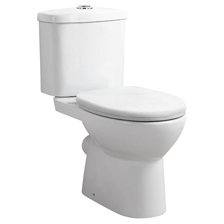 Cove Rimless Close Coupled Toilet + Soft Close Seat