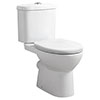 Cove Rimless Close Coupled Toilet + Soft Close Seat profile small image view 1