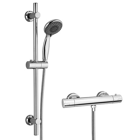 Cruze Bar Shower Package with Valve + Slider Rail Kit