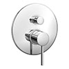 Cruze Modern Concealed Manual Shower Valve with Diverter - Chrome Medium Image