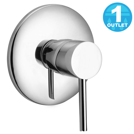 Cruze Modern Concealed Manual Shower Valve - Chrome