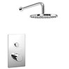 Cruze Round Concealed Push-Button Valve + Rainfall Shower Head profile small image view 1