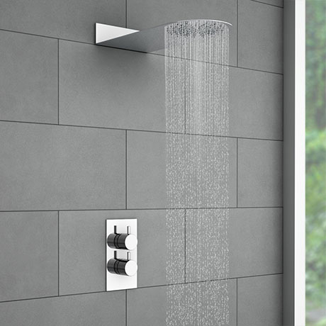 Cruze Round Shower Package with Concealed Valve + Flat Fixed Shower Head