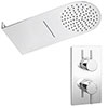 Cruze Shower Package with Valve + Flat Dual Fixed Shower Head (Waterfall / Rainfall) profile small image view 1