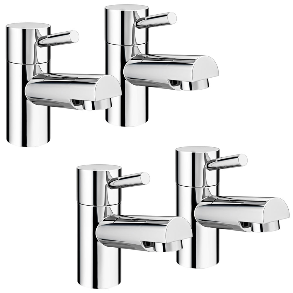 Cruze Modern Basin + Bath Tap Set