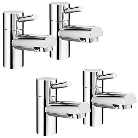 Cruze Modern Basin + Bath Tap Set