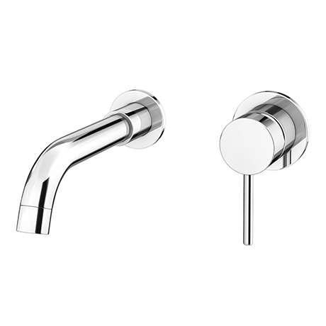 Cruze Round Chrome Wall Mounted (2TH) Basin Mixer Tap