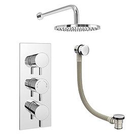 Cruze 2 Outlet Shower System (Fixed Shower Head + Overflow Bath Filler)