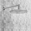 Cruze 300mm Ultra-Thin Round Shower Head + 90 Degree Bend Arm profile small image view 1