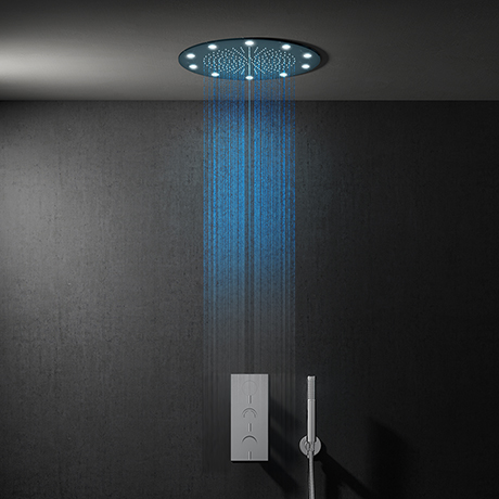 Cruze 400mm LED Round Shower Package with Concealed Valve + Handset