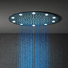 Cruze 400mm LED Illuminated Fixed Ceiling Mounted Round Shower Head profile small image view 1