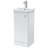 Cruze 400mm Curved Gloss White Vanity Unit profile small image view 1