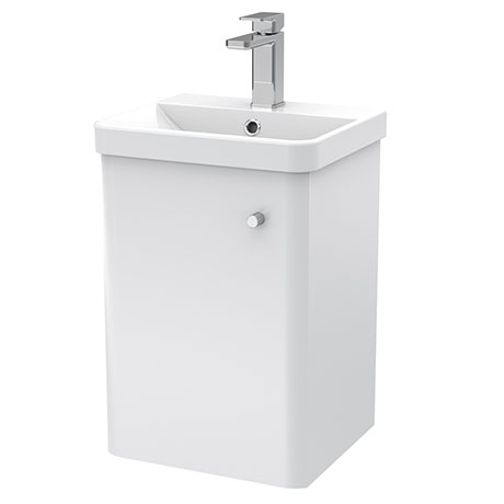 Cruze 400mm Curved Gloss White Wall Hung Vanity Unit