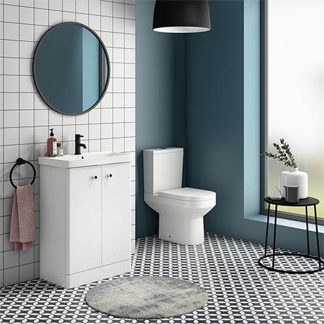 Cruze 600 Curved Floorstanding Vanity Unit + Close Coupled Toilet