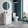 Cruze 600 Curved Floorstanding Vanity Unit + Close Coupled Toilet profile small image view 1