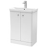 Cruze 600mm Curved Gloss White Vanity Unit profile small image view 1