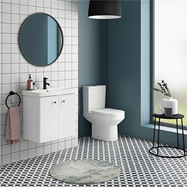 Cruze 600 Curved Wall Hung Vanity Unit + Close Coupled Toilet