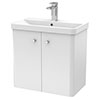 Cruze 600mm Curved Gloss White Wall Hung Vanity Unit profile small image view 1