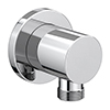 Cruze Round Chrome Plated Brass Outlet Elbow profile small image view 1