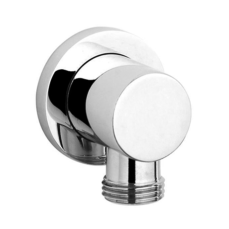 Cruze Round Chrome Plated Brass Outlet Elbow
