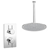 Cruze Twin Concealed Shower Valve inc. Ultra Thin Head + Vertical Arm profile small image view 1