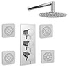 Cruze Concealed Thermostatic Valve with Fixed Shower Head + 4 Tile Body Jets Small Image