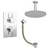 Cruze Modern Shower Package (Fixed Shower Head + Overflow Bath Filler) profile small image view 1