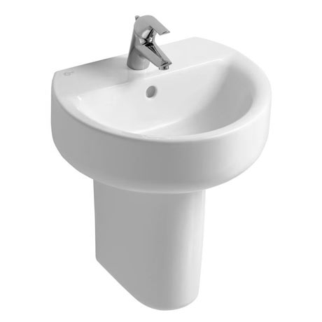 Ideal Standard Concept Sphere 1TH Basin & Semi Pedestal
