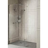 8mm Wetroom Screen + Chrome Retaining Arm profile small image view 1