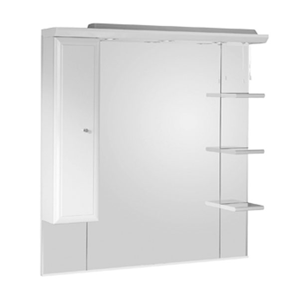 Roper Rhodes Valencia 1000mm Mirror with Shelves, Cupboard & Canopy Large Image