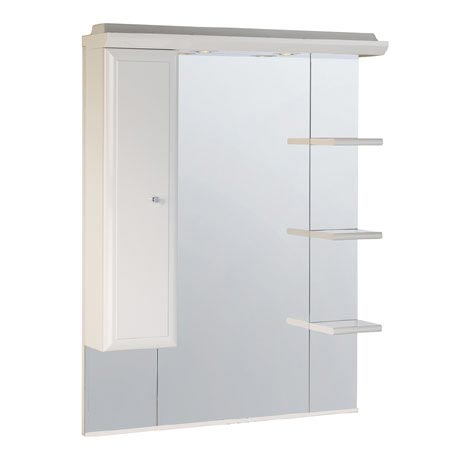Roper Rhodes Valencia 800mm Mirror with Shelves, Cupboard & Canopy