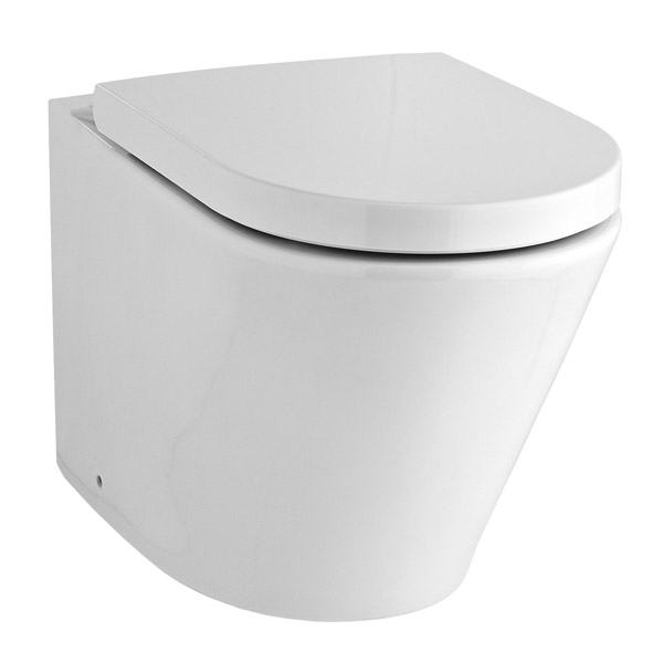 Premier Solace Back to Wall Toilet with Soft Close Top-Fixing Seat Large Image