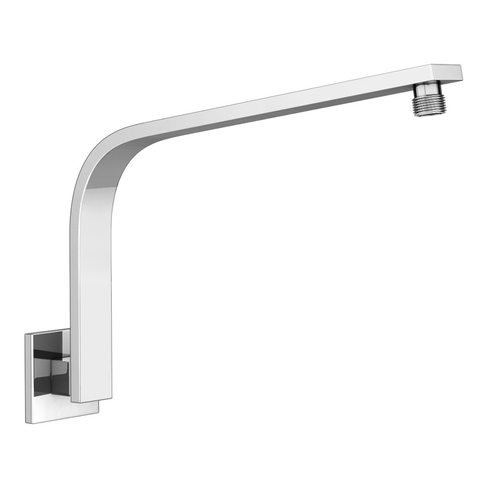 Milan Curved Wall Mounted Shower Arm - Chrome