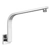 Milan Curved Wall Mounted Shower Arm - Chrome profile small image view 1