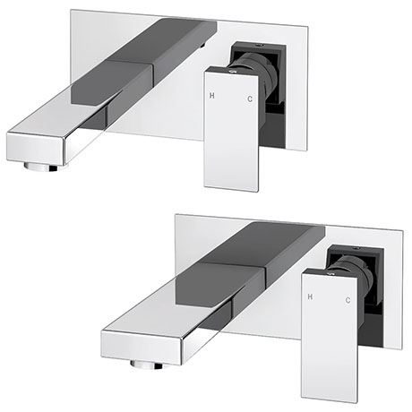 Cast Wall Mounted Tap Package (Bath + Basin Tap)