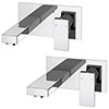 Cast Wall Mounted Tap Package (Bath + Basin Tap) profile small image view 1