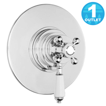Lancaster Traditional Round Concealed Dual Thermostatic Shower Valve Medium Image