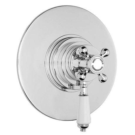 Lancaster Traditional Round Concealed Dual Thermostatic Shower Valve