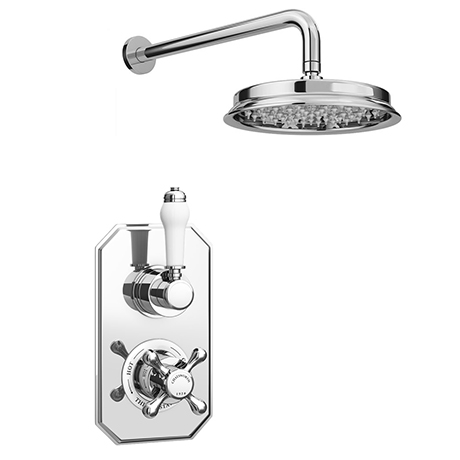 """Chatsworth 1928 Traditional Shower Package with Concealed Valve + 8"""" AirTec Head"""