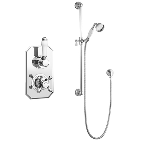 Chatsworth 1928 Traditional Shower Package with Concealed Valve + Slide Rail Kit