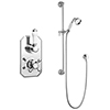 Chatsworth 1928 Traditional Shower Package with Concealed Valve + Slide Rail Kit profile small image view 1