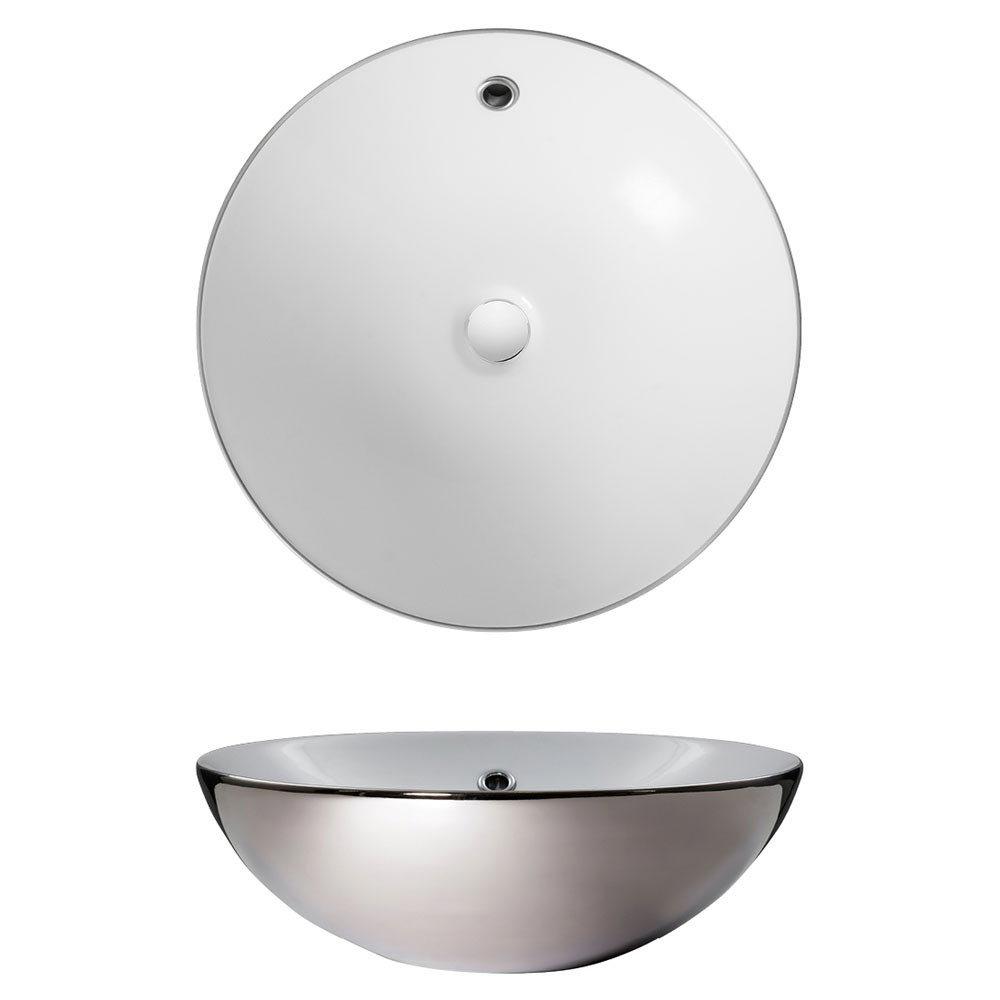 Bauhaus Castellon Plus Platinum Countertop Basin - 430 x 430mm profile large image view 2