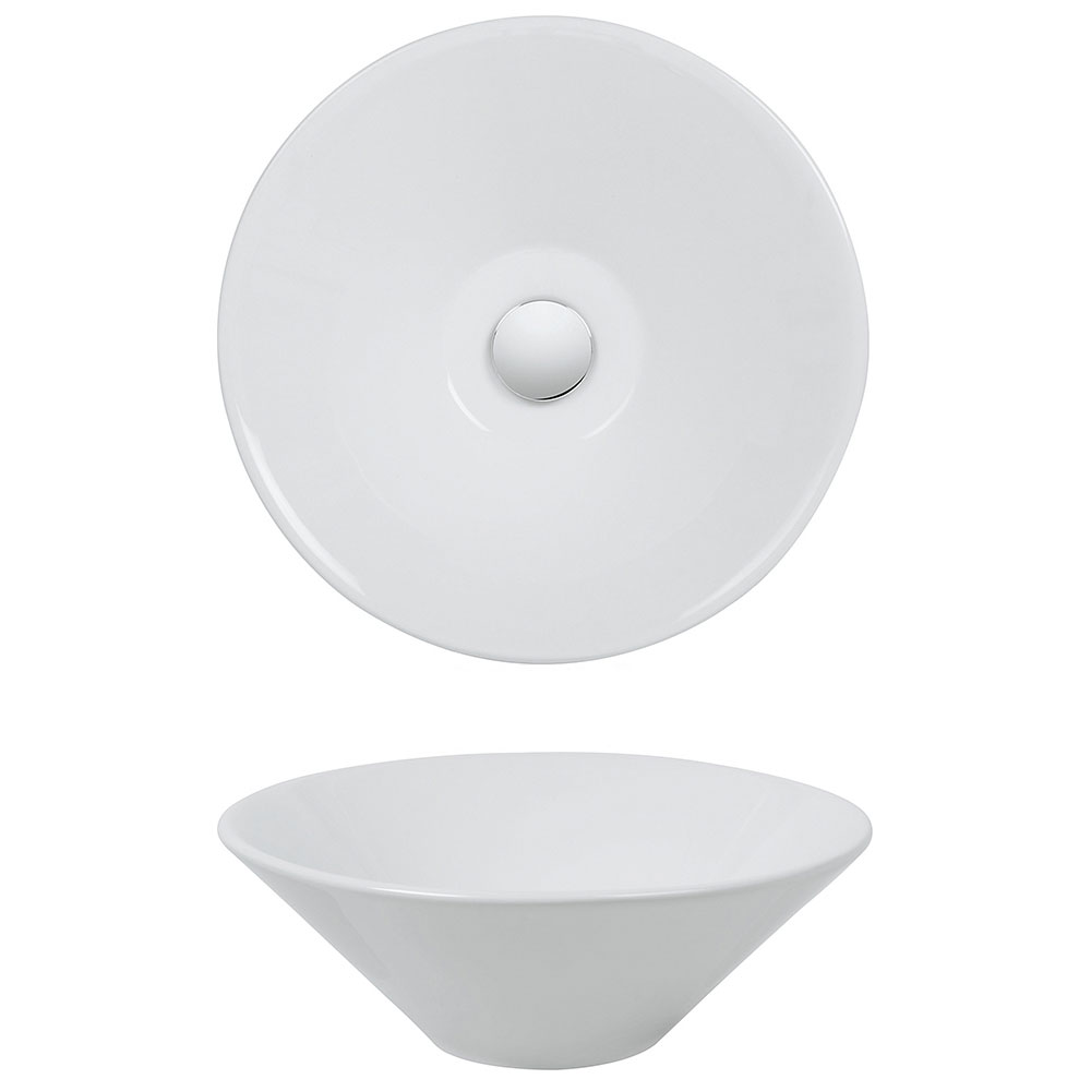 Bauhaus - Cáceres Countertop Basin - 420 x 420mm profile large image view 2