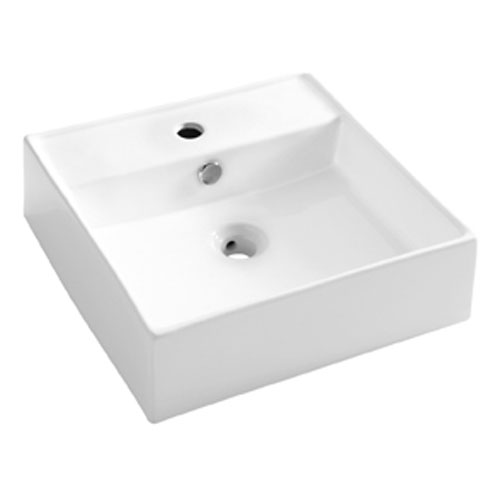 Bauhaus - Tenerife 1 Tap Hole Countertop or Wall Mounted Basin - 465 x 455mm Large Image