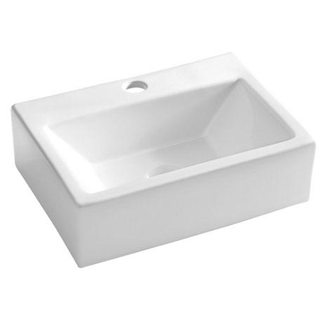 Bauhaus - Gerona 1 Tap Hole Countertop or Wall Mounted Basin - 425 x 305mm