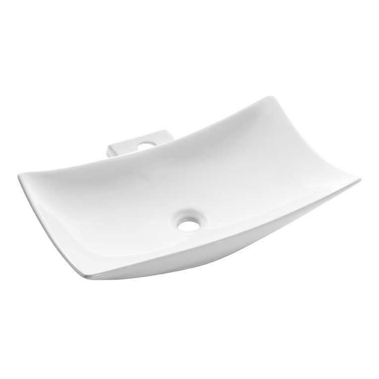 Bauhaus - Magdalena 1 Countertop Basin with Tap Ledge - 570 x 390mm profile large image view 1