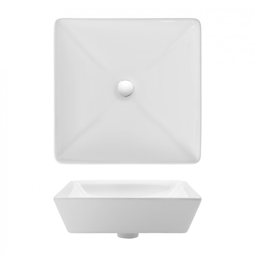 Bauhaus - Forme Countertop Basin - 400 x 400mm profile large image view 2