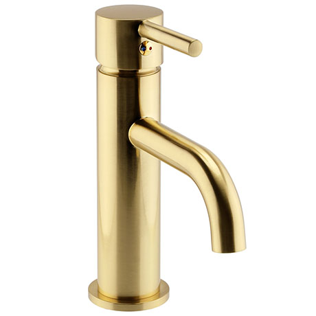 Arezzo Round Brushed Brass Basin Mono Mixer Tap