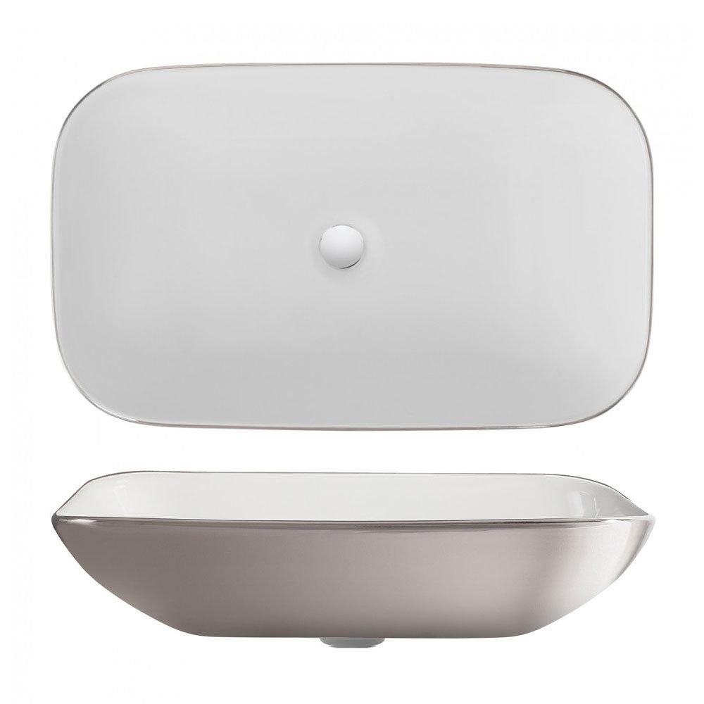 Bauhaus - Serene Platinum Countertop Basin - 580 x 350mm profile large image view 2